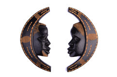African man and woman wooden wall decoration Royalty Free Stock Images