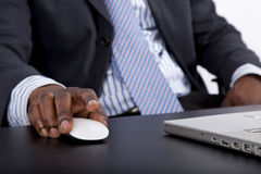 African man working on a computer Stock Image