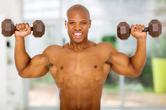 African man working out Royalty Free Stock Photos