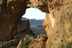 African Map Window. Rock Arch Rustler's Valley Free State South Africa Royalty Free Stock Photography
