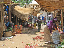 African market. Typical African food market in Moshi, Tanzania Royalty Free Stock Photo