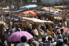 African market of Debark in Ethiopia Royalty Free Stock Images