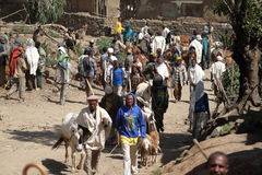 African market of Debark in Ethiopia Stock Photo