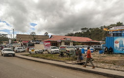 African market. In kenya in africa on a cloudy day. Picture taken in May 2014 Royalty Free Stock Image