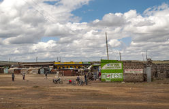 African market. In kenya in africa on a cloudy day. Picture taken in May 2014 Stock Photography
