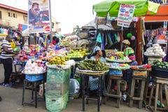 African market. Market in Lagos Nigeria Stock Photo
