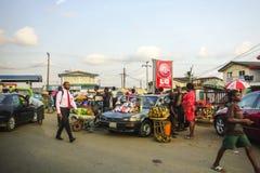 African market. Market in Lagos Nigeria Royalty Free Stock Photo