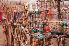 Free African Masai Handmade Ornament Fashion Accessories Souvenir For Tourist At Ngorongoro, Serengeti Tanzania Stock Images - 162180324