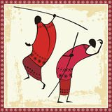 African Masai Warriors Illustrations. Illustrations of African Masai warriors Stock Photos