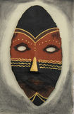 An african mask. A handmade african mask royalty free stock image
