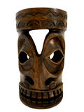 African mask. Carved wood African mask islated on white background Royalty Free Stock Image
