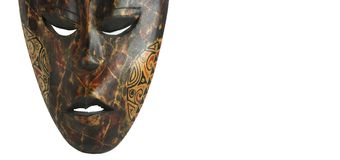 African mask. Photo of African mask with symbolic content Stock Image