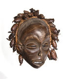 African mask. Collection of vintage African masks different styles South Africa, Congo, Chad, Kenya, Uganda Royalty Free Stock Photography