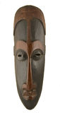 African mask. Ancient handmade african mask  - ebony wood Stock Images