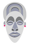 African mask. Color illustration painted in  style Royalty Free Stock Photo