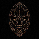 African mask grunge Royalty Free Stock Images