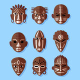 African Mask Icons Royalty Free Stock Image