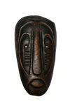 African mask on an isolated background. Souvenir in the form of an African mask Stock Photography