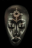 African mask isolated on black Royalty Free Stock Photos