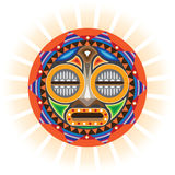 African mask. Ritual Mask of sorcerer Stock Image