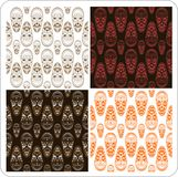 African Mask Seamless Texture. Background  4 Variations Stock Images