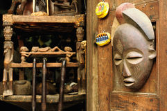 African mask from Tanzania Stock Photo