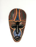 African Mask on white background royalty free stock image
