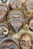 African masks. Vintage African masks, tribal zulu Royalty Free Stock Photos
