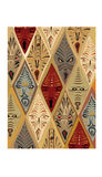 African Masks. Hand drawn African mask pattern Stock Photography