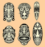 African Masks Stock Photography
