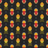 African masks pattern Stock Photo