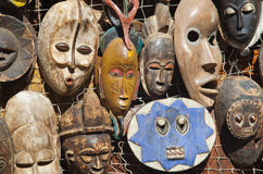 African masks for sell Stock Image