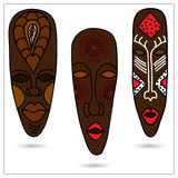 African Masks Stock Photo