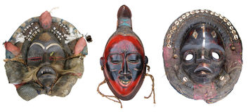 African masks4 Royalty Free Stock Images