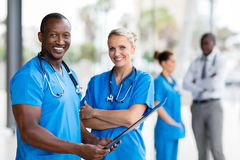 African medical doctor female nurse royalty free stock images