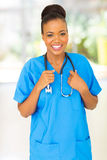 African medical nurse Stock Image