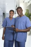 African medical team in clinic Stock Photos