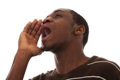 African men scream Stock Photo