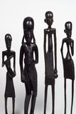 African Men Variety. African woodcarvings depicting different men.  Image carved by Tanzanian craftsman adn is not copyrighted Royalty Free Stock Photos