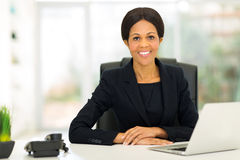 African middle aged businesswoman office royalty free stock photo