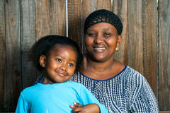 African mom with little girl. Royalty Free Stock Photography