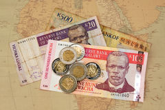 African Money stock photography