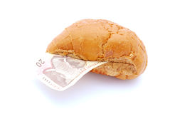 African money sandwich royalty free stock image