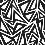 African monochrome seamless pattern Stock Images