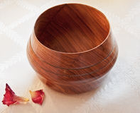 African Mopani Wood Bowl Royalty Free Stock Photography