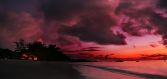 African Morning Sky. A sunrise over the Indian ocean on the coast of Kenya royalty free stock photo