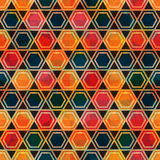African mosaic seamless pattern Stock Photos