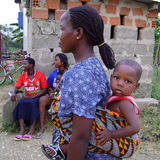 African mother with baby royalty free stock photo