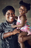 African mother and daughter Stock Photography