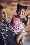 African mother and daughter royalty free stock photo